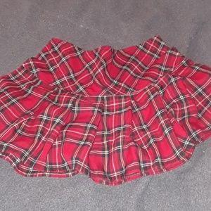 Punk Plaid Mini Skirt